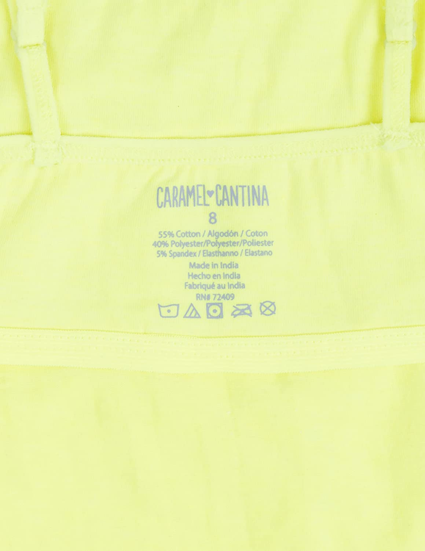 Caramel Cantina Girls 4 Pack Spaghetti Strap Cami Tanks with Shelf Bras