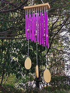 Wind Chimes Outdoor Hanging Decor Tubular Decorative Outdoor Garden Backyard Home Hollow Patio Yard Metal Tubes