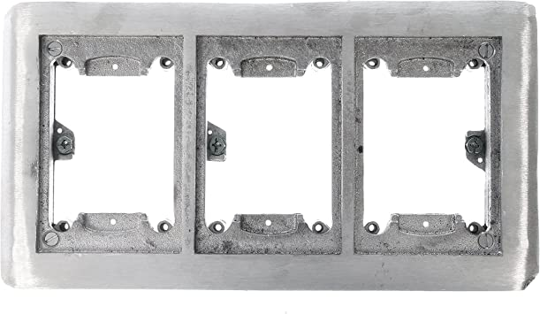 New Thomas /& Betts Steel City 642 P 2-Gang Non-Metallic Floor Box