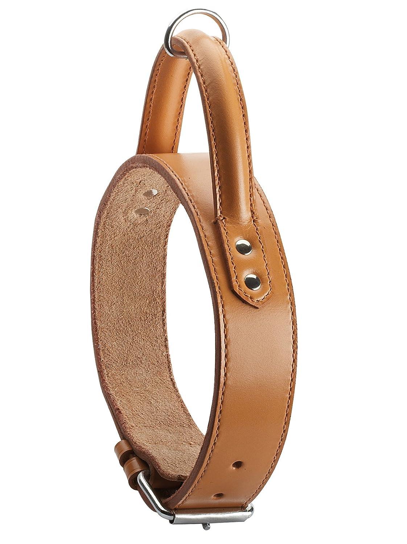 Bobby Hundehalsband, natürliches Leder Halsband 65cm/66cm