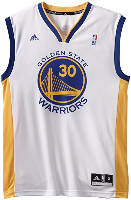 new concept f09fc eab9c adidas NBA Golden State Warriors Stephen Curry #30 Men's Replica Jersey