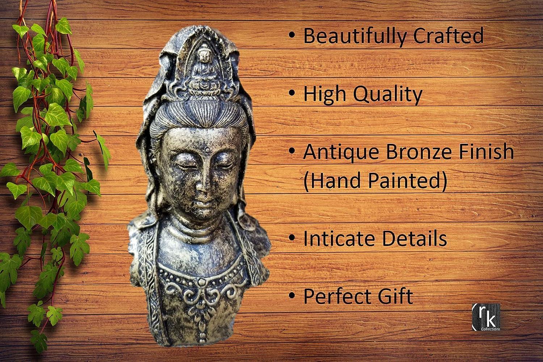 Antique Bronze Kuan yin Statue. RK Collections 5 Guan Yin Statue//Quan Yin Statue