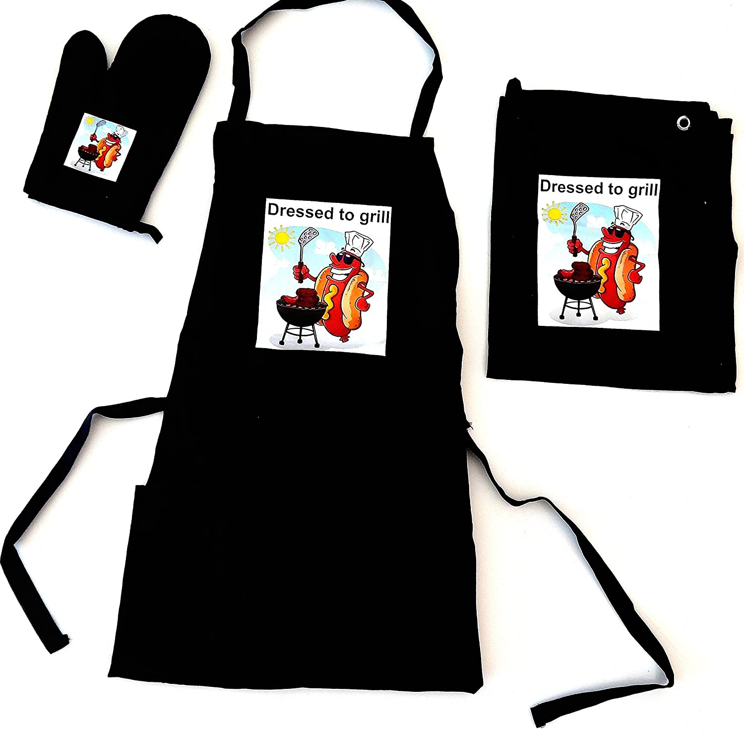 Tinas Collection 3-Piece Apron Set, Apron, Oven Glove, Tea Towel
