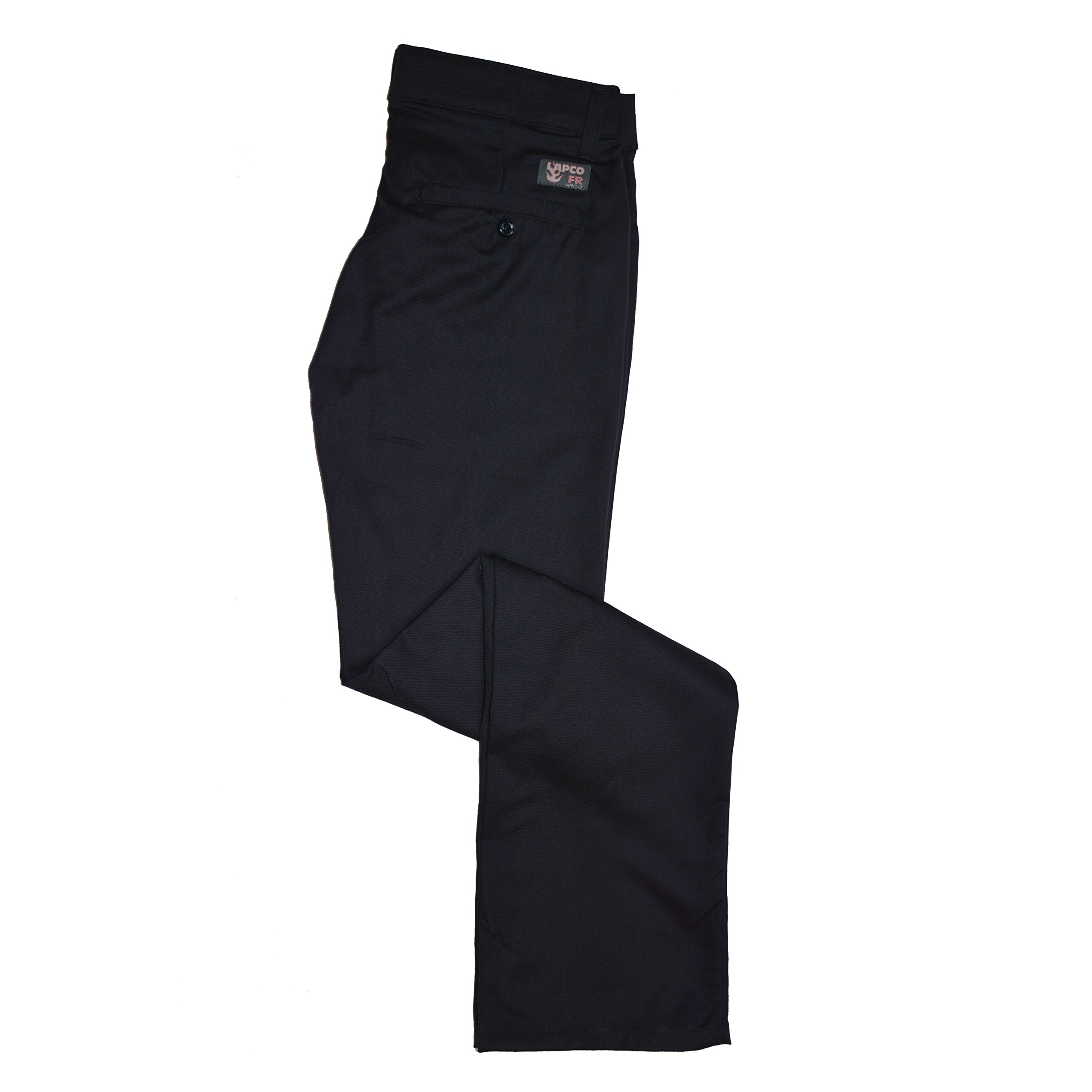 Lapco FR L-PFRACNY 4RG Ladies FR Advanced Comfort Uniform Pants, 88% Cotton, 12% Nylon, 7 oz, 4RG, Navy by Lapco FR (Image #1)