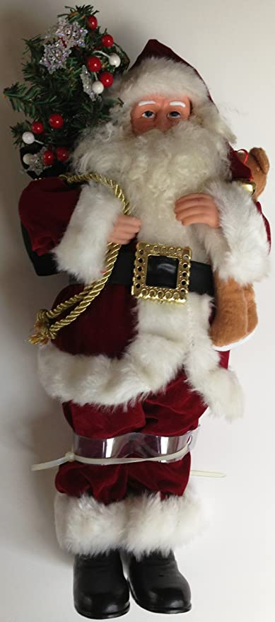 Santas Workshop Call Of The Wild Claus Figurine 15 Tall Tan Brown Collectible Figurines