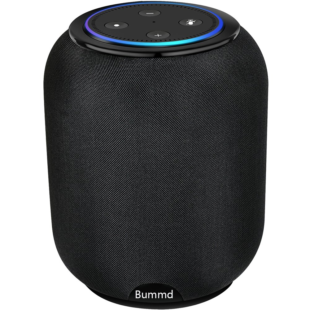 Bummd Portable Wireless Speaker for Amazon Echo Dot 2nd Generation Cordless Alexa Speaker with Battery Base 20W Powerful Stereo Sound Built-in with 3 Horns 2.1 Channel Smart Home Speaker by Bummd