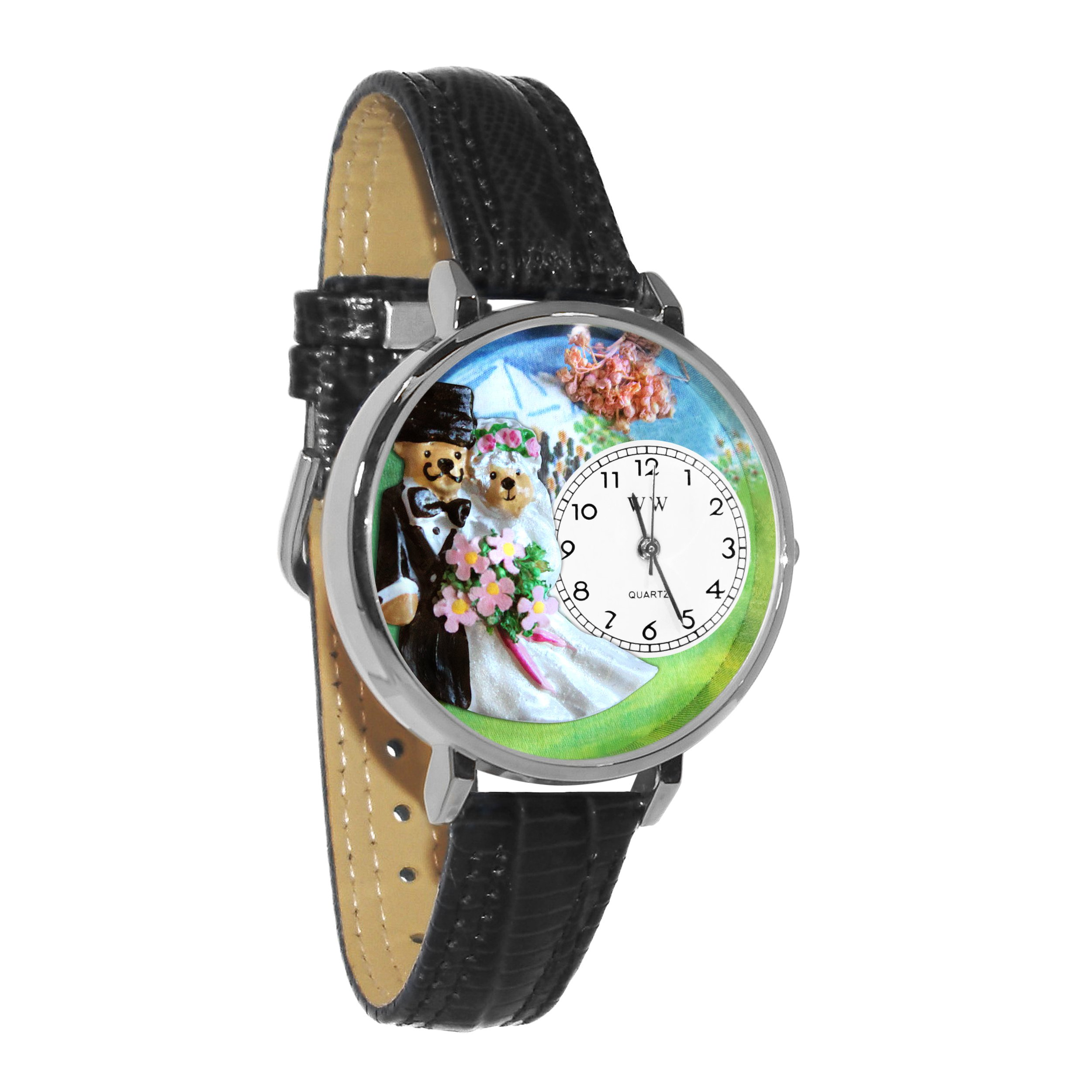 Whimsical Watches Unisex U1340002 Teddy Bear Wedding White Leather Watch by Whimsical Watches (Image #1)