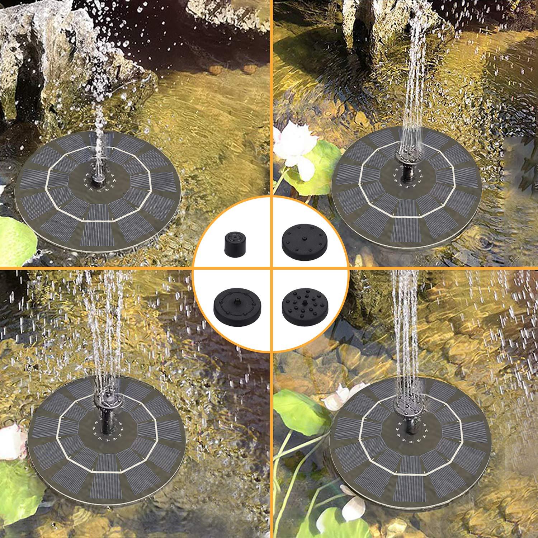 Solare Fontana Pompa 2.5W Upgraded Pompa Solare Fontana per Vaschetta degli Uccelli,Free Standing per Bagno di Uccelli Piccolo Stagno Giardino Piscina -Ideale per Giardino Esterno Piscina Laghetto