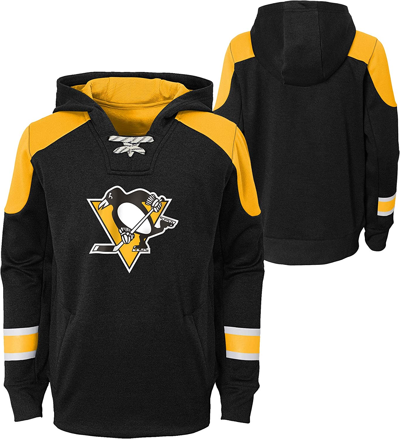 Pittsburgh Penguins Youth Zenith Performance Pullover Fleece Hoodie
