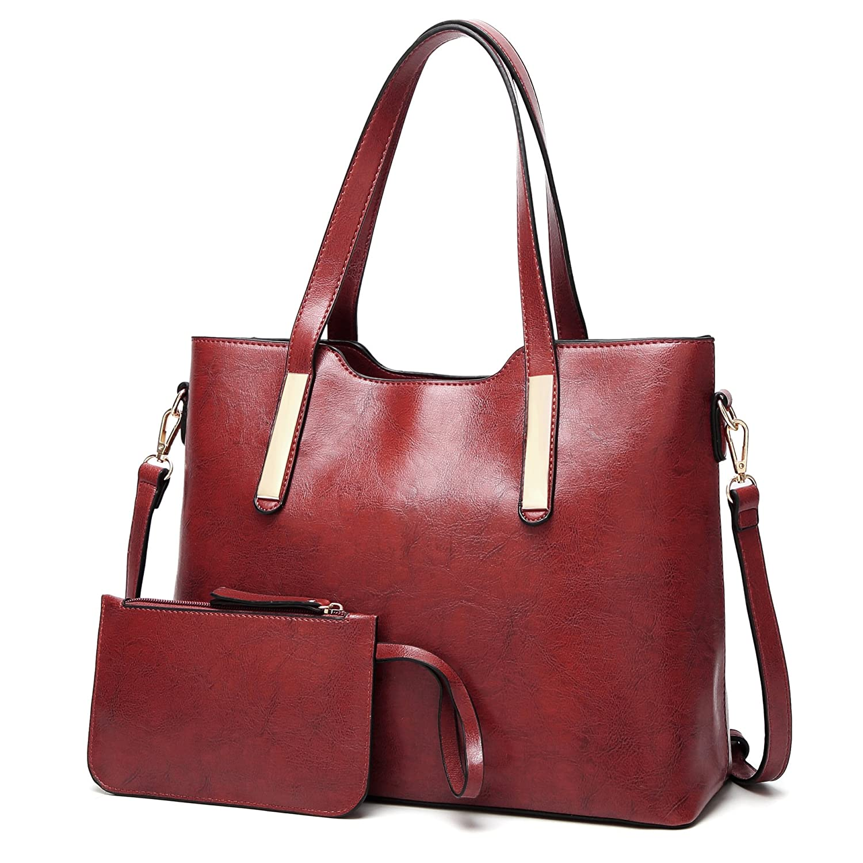 Aburnudrey Womens Handbags Ladies Designer PU Leather Handbags Shoulder Bag Tote