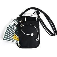 MuchL Travel Wallet Passport Holder, RFID Blocking Document Organizer Case for Passports/Cash/Cards, Convenient Neck Strap