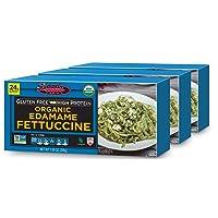 Seapoint Farms Organic Edamame Fettuccine, Healthy Gluten-Free Noodles,7.05 oz., 3 Pack
