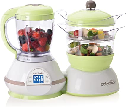 BABYMOOV Nutribaby 5 in 1 Food Processor Zen and Free Silicone Container (240 ml)