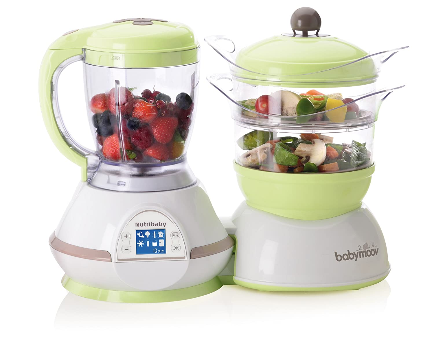 Babymoov Duo Meal Station | 5 in 1 Food Processor with Steam Cooker, Multi-Speed Blender, Baby Purees, Warmer, Defroster, Sterilizer ALT GROUP BABYMOOV CORP A001125