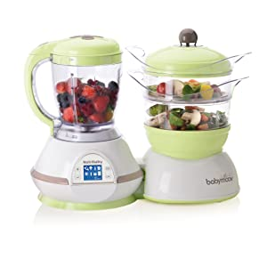 Babymoov Nutribaby Classic Multifunction Baby Food Processor - Steamer, Blender & Sterilizer (Zen)