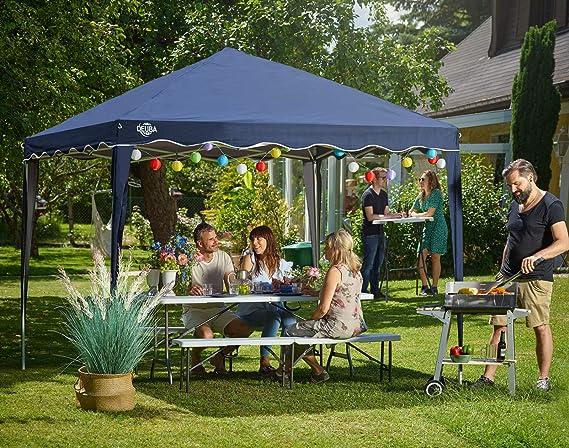 Deuba Pabellon de Jardin cenador Capri Naranja 3x3 m Carpa Plegable de jardín Impermeable y Pop Up para Eventos Camping: Amazon.es: Jardín