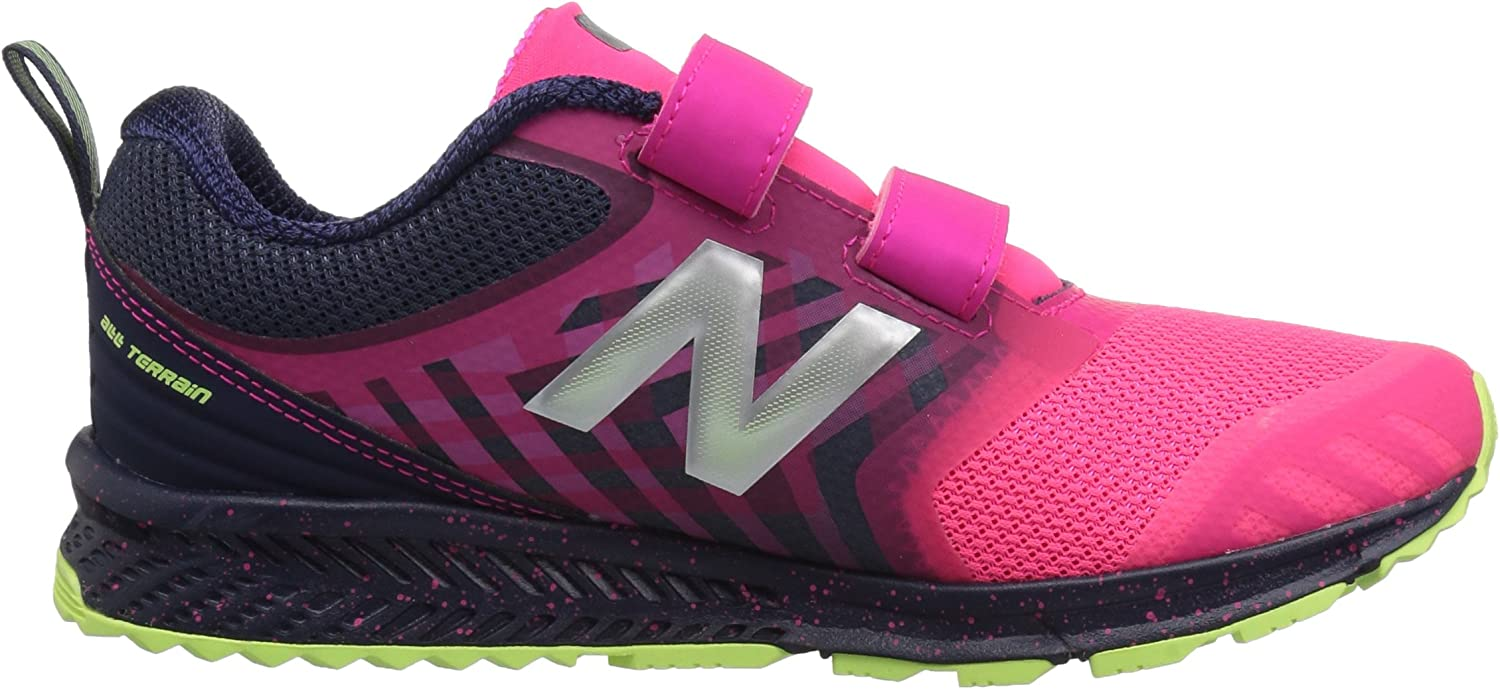 New Balance unisex-child FuelCore Nitrel Hook and Loop Trail Running Shoe