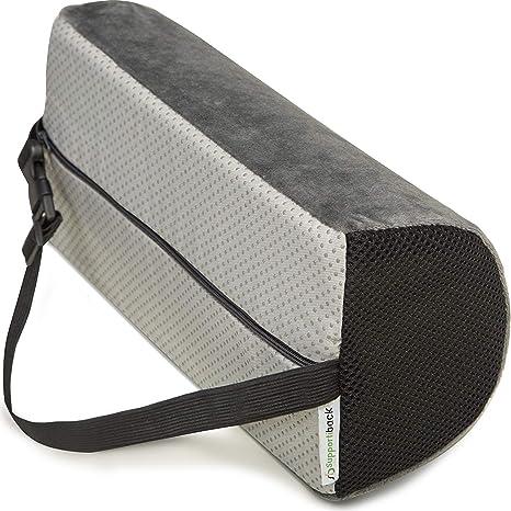 Supportiback® Cojín Lumbar en D para terapia de postura. Con espuma de memoria, cojín ergonómico para casa, oficina, coche, viajes. Descansa y ...