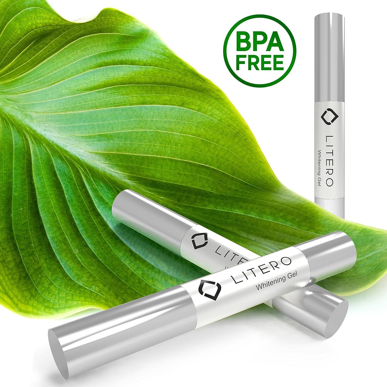 Litero Biggest Home Teeth Whitening Gel Pens For Sensitive Teeth – 200 Whitening Treatments – Best Refill For Dental Whitening Kit For Smoker – 35 Carbamide Peroxide