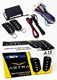 Scytek A15 Keyless Entry Car Alarm Security System, 2 Key Fob Remote Controls