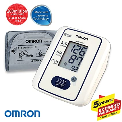 Omron Hem 7113 Fully Automatic Digital Blood Pressure Monitor With