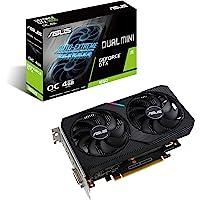ASUS Dual NVIDIA GeForce GTX 1650 Mini OC Edition Gaming CSM Graphics Card (PCIe 3.0, 4GB GDDR6 Memory, HDMI…