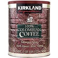Signature 100% Colombian Coffee Supremo Bean Dark Roast-Fine Grind, 3 Pound