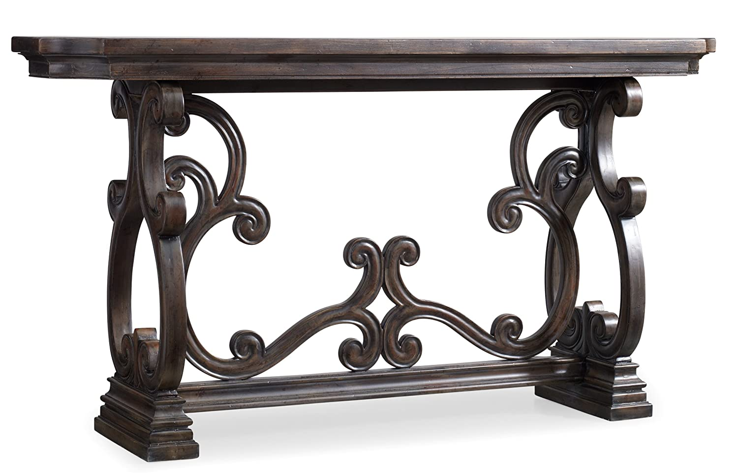 Amazon.com: Hooker Furniture DaValle Scroll Console Table: Kitchen U0026 Dining