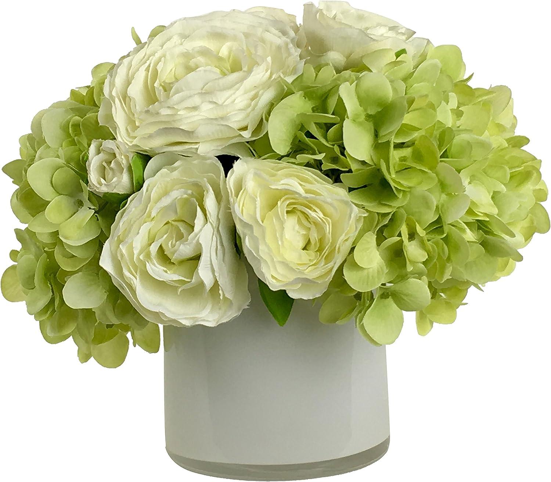 Amazon Com Rg Style Silk Mixed In Decorative Vase Artificial Floral Arrangement Home Kitchen