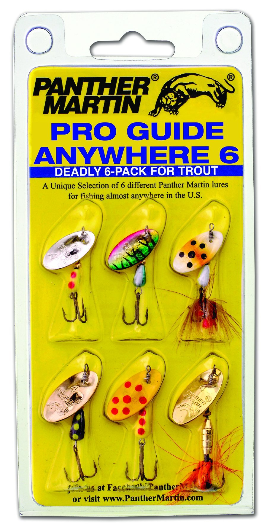 Panther Martin Pro Guide Anywhere 6 Pack by Panther Martin