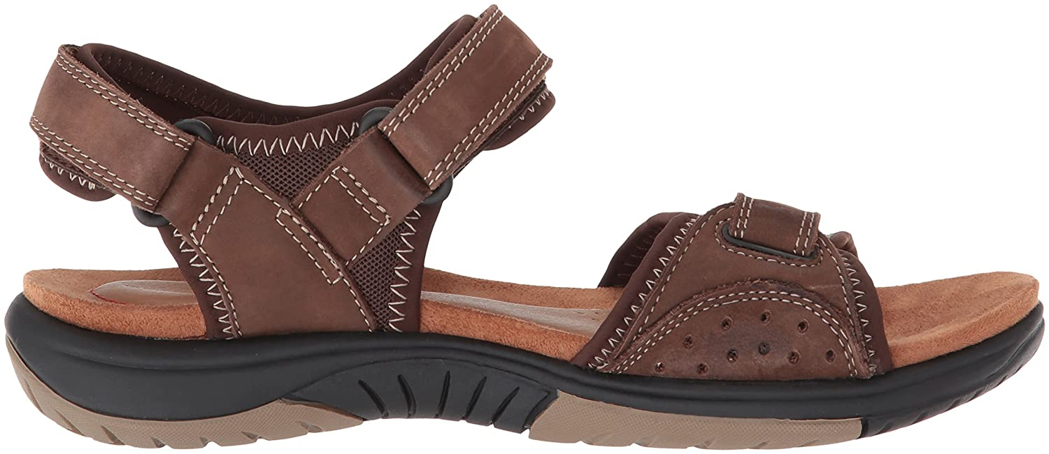 Rockport Women's Franklin Three Strap Sport Sandal B073ZTQ5S1 8 W US|Brown