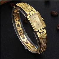 Harbour Retro Artistic Designer Golden Belt Gold Dial Women Watches & Girls Watches - GB_12