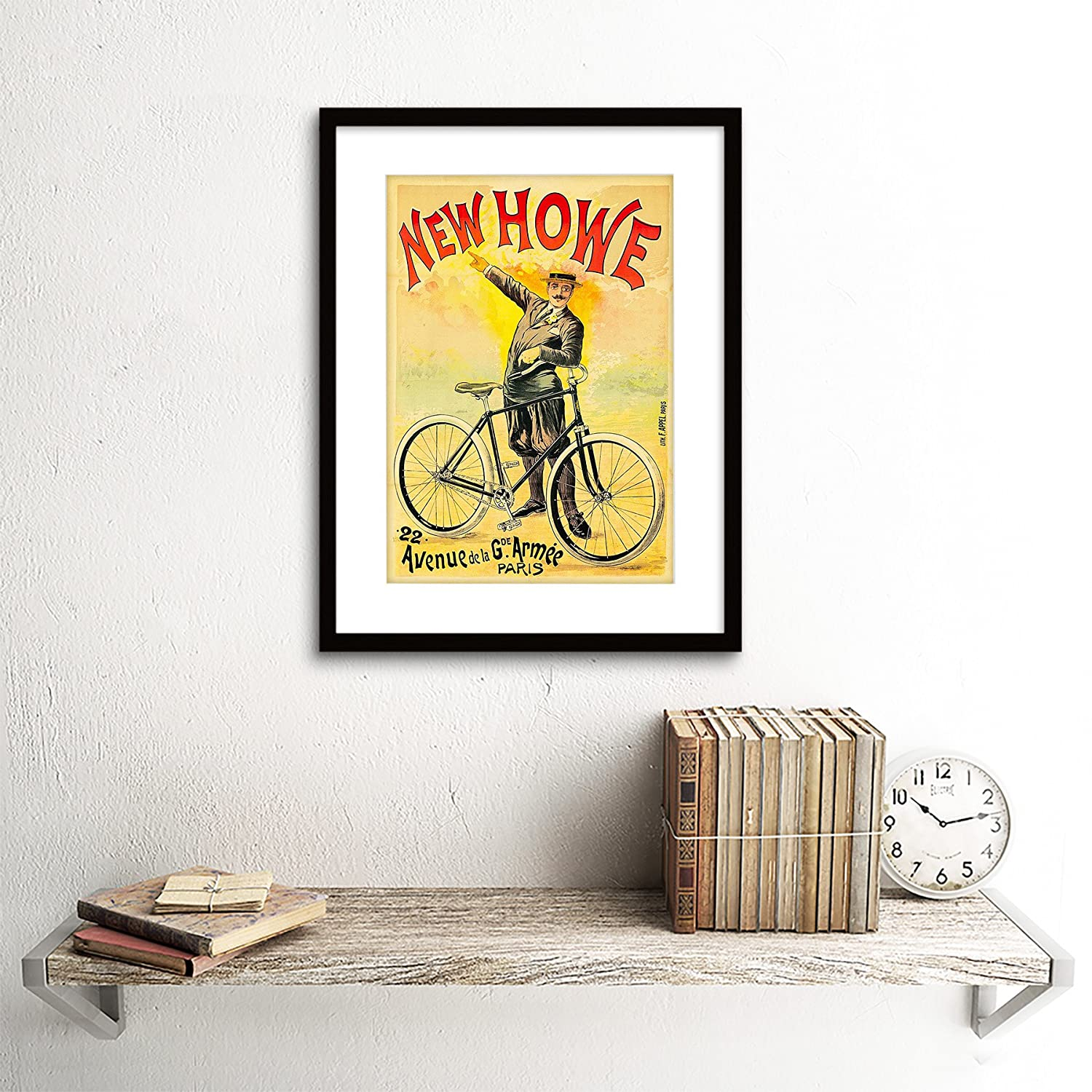 Amazon.com: ADVERT TRANSPORT NEW HOWE VINTAGE BICYCLE PARIS FRANCE ...