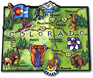 ARTWOOD MAGNET - COLORADO STATE MAP