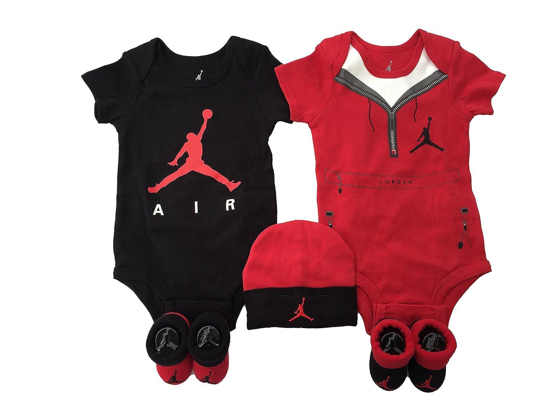 Nike Air Jordan bebé niños o niñas (5 Piezas), Red Jumpman (3933) / Air Jordan/Universiyt Red/Black: Amazon.es: Deportes y aire libre