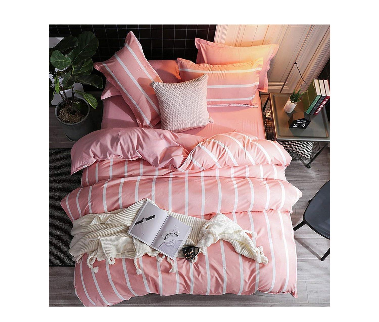 22 Twin 4pcs Cartoon Pink Flamingoding Sets 3 4pcs Geometric Pattern Duvet Cover Sheet Pillowcases,17,Twin 3pcs