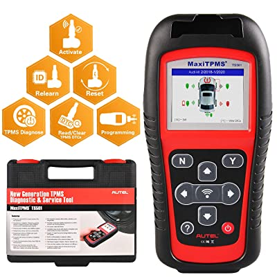 Autel MaxiTPMS TS501 TPMS Scan Tool, Upgraded Version of TS408 TS401, Program MX-Sensor, TPMS Diagnose, Read Clear TPMS DTCs, Sensor Activation, Key Fob Testing, Relearn by OBD Function: Automotive