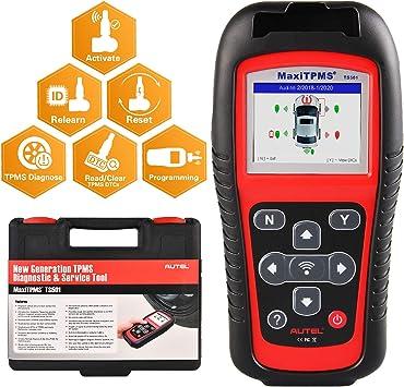 Autel MaxiTPMS TS501 TPMS Car Diagnostic Tool Activate TPMS sensors// Read sensor data//TPMS Sensor Programming// Check Key FOB// Program MX-Sensor// Read//clear TPMS DTCs// Relearn by OBD function