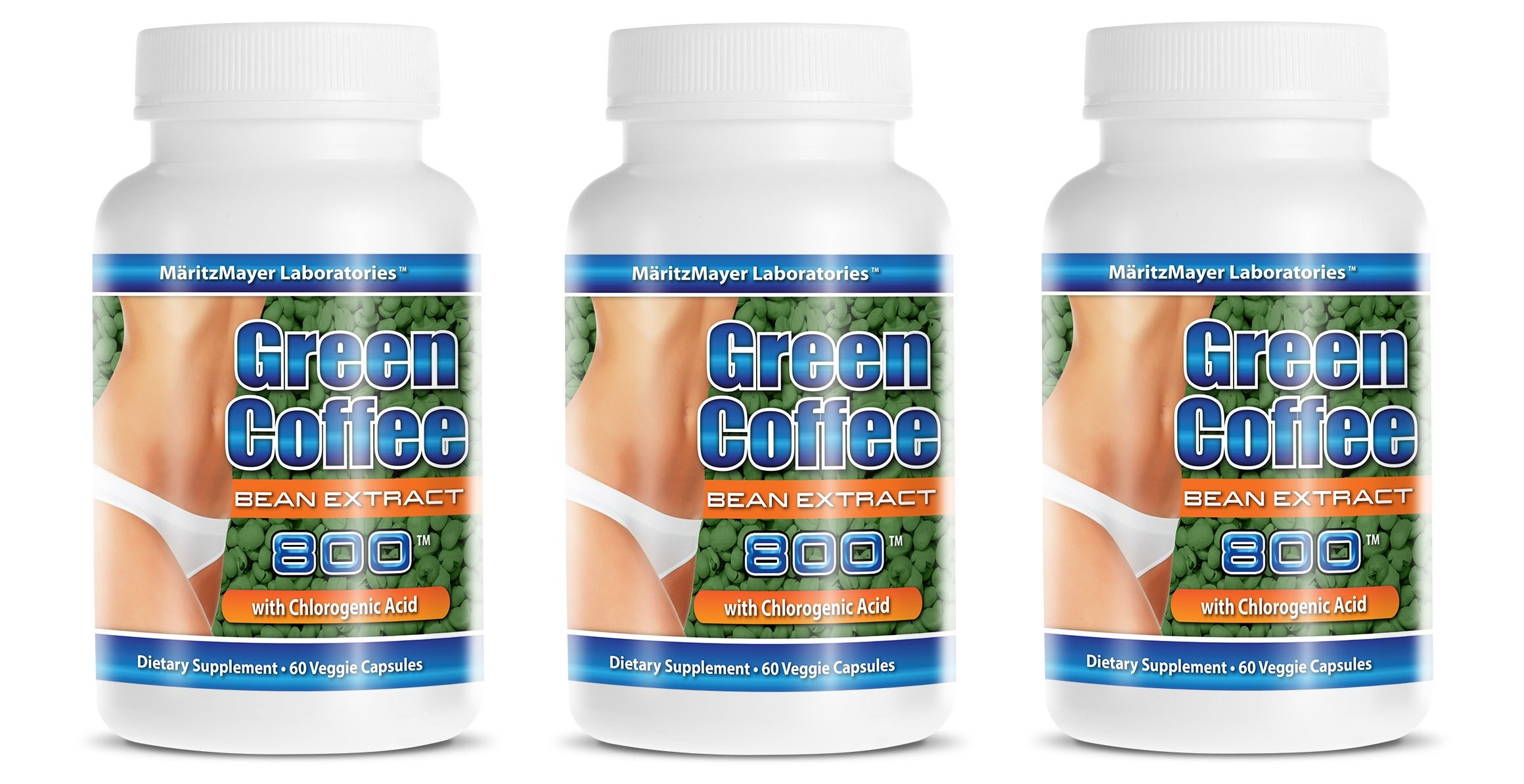 Pure Super Green Coffee Extract 800mg, 180 Capsules by MaritzMayer Laboratories