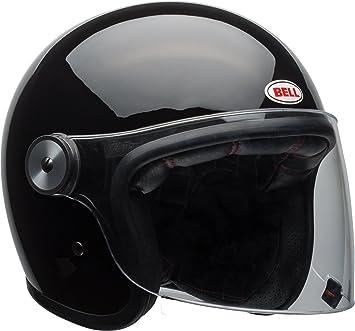 BELL Cruiser RIOT Matte BLACK Open Face Motorcycle Helmet Clear Flip Visor