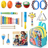 YISSVIC Kids Musical Instruments Set 13 Pcs Toddler Percussion Toy for Boys and Girls with Carry Bag