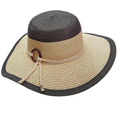 bb6378b7003 Amazon.com  Panama Jack Women s Two-Tone Paper Braid Packable Sun ...