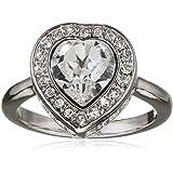 Guess Damen-Ring Herz Messing Glas weiß - UBR28507