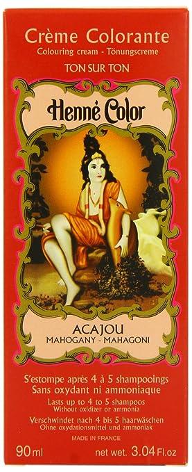 henne color mahogany henna hair colouring cream 90 ml - Henn Color