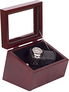 product image for American Chest Corp. WW02M The Admiral, Double Watch Solid Cherry Featuring 4 Winder Programs, Multicolor