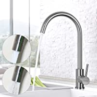 Deals on JZBRAIN Bar Sink Faucet Stainless Steel High Arch Kitchen Faucet