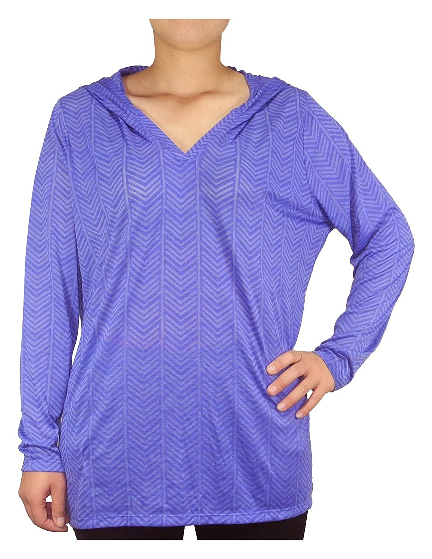 PLUS SIZE Balance Collection (By Marika) Womens Lightweight Yoga Hoodie / Sweatshirt