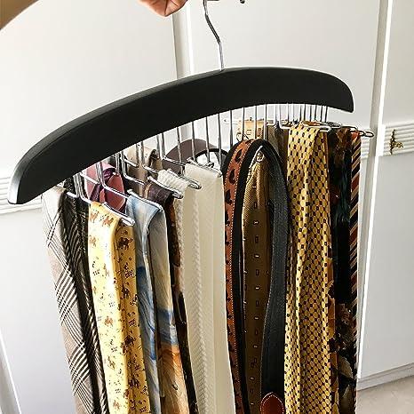 HOMFA Percha para Cinturones Perchero para corbatas Percha de Madera 42*17*1.6cm
