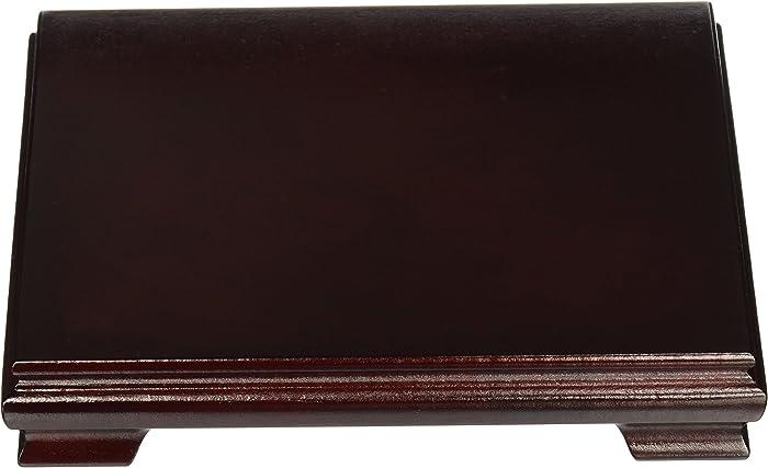 Oriental Furniture Rosewood Rectangular STAND - 8 Inch x 6 Inch
