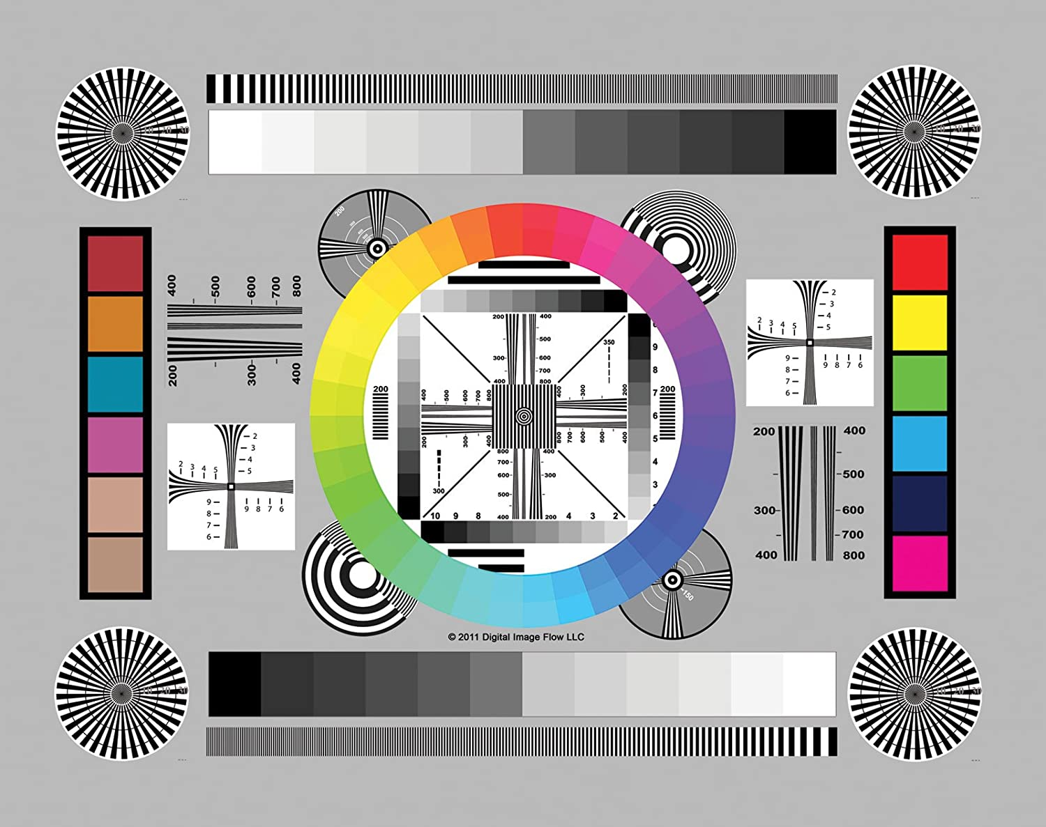 """DGK Color Tools DGK-CSD Set of 3 High Resolution 8"""" by 11"""" Chrome SD Professional Lens Test Chart for Lens Testing - Calibration - Resolution and Color Calibration for Digital Photo and Video"""